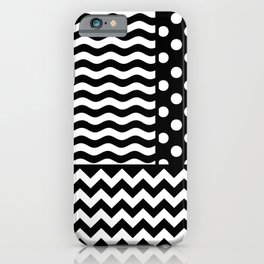 Mixed Patterns (Horizontal Stripes/Polka Dots/Wavy Stripes/Chevron/Checker) iPhone Case