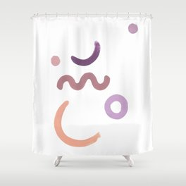 Squiggle Shapes Shower Curtain