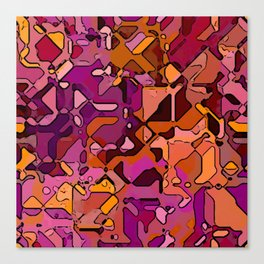 Abstract segmented 3 Canvas Print