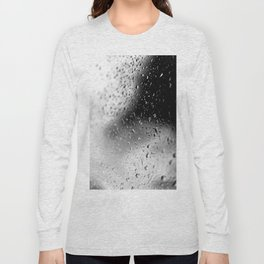 Splash Water - Black and White Long Sleeve T-shirt