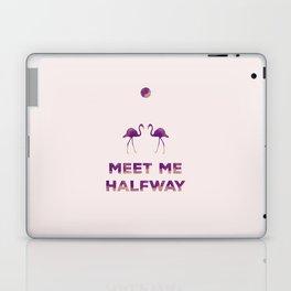 Flamingos Under the Moon Laptop & iPad Skin