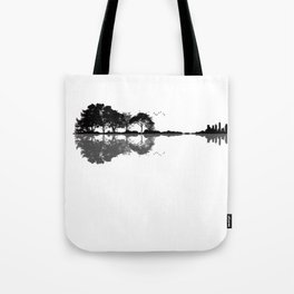 Acoustic Guitar Forest Nature Reflection Musician Tote Bag