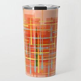 Abstract Orange Terminal Travel Mug