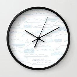 Island lines Wall Clock