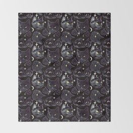 Black Magic 2 Throw Blanket
