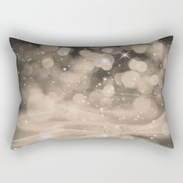 Pantone Hazelnut Whimsical Glowing Orb Sparkles Rectangular Pillow
