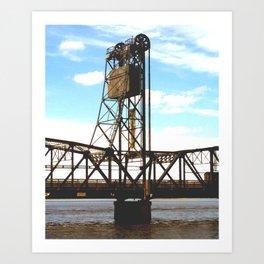 Stillwater Draw Bridge Art Print