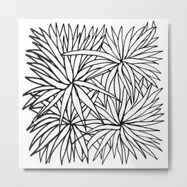 Simple Plants IV Metal Print