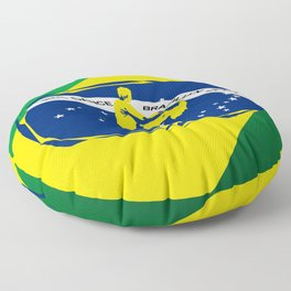 lets dance brazilian zouk flag design Floor Pillow