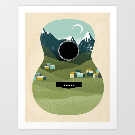 Rocky Mountain High - Guitar Art Print