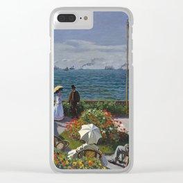 Claude Monet - Garden at Sainte-Adresse (1867) Clear iPhone Case
