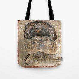 Humorous Mating Tortoises Tote Bag