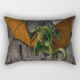 Dragon & Castle Artwork Rectangular Pillow