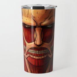 Colossal titan artwork Travel Mug