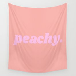 peachy. Wall Tapestry