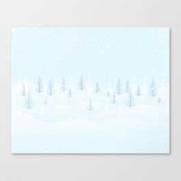 Frosty Forest Winter Morning Canvas Print