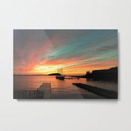 Autumn Sunrise Bar Harbor maine Metal Print