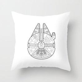 Millenium Falcon. Throw Pillow