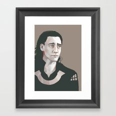 Loki (Tom Hiddleston) Framed Art Print
