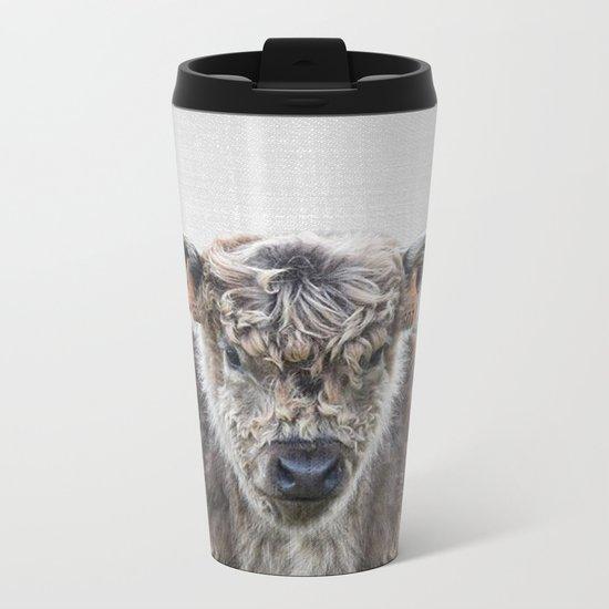 Fluffy Cow - Colorful Metal Travel Mug