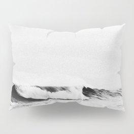Minimalist Black and White Ocean Wave Photograph Pillow Sham