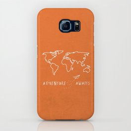 Adventure Map - Retro Orange iPhone Case