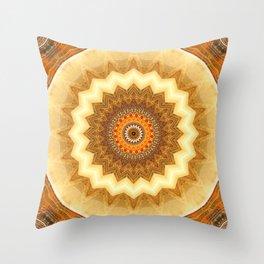Mandala gold of the incas Throw Pillow