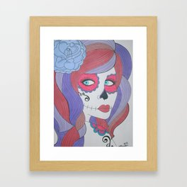 Shades of Purple and Red Framed Art Print
