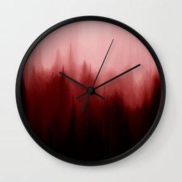 Blood Pines Wall Clock