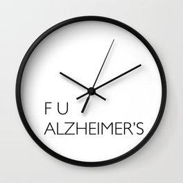 F U ALZHEIMER'S Wall Clock
