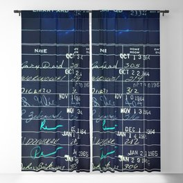 Library Card 23322 Negative Blackout Curtain