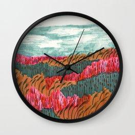 Quiet Place brush pen illustration by Amanda Laurel Atkins Wall Clock