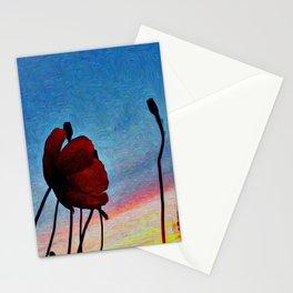 Poppy Sunset Stationery Cards