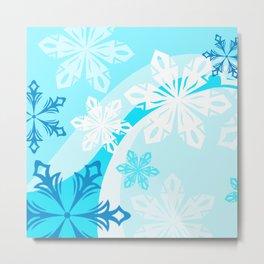 Abstract Winter Holiday Metal Print