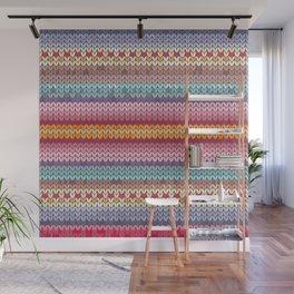 knitting pattern Wall Mural