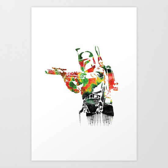 Boba Fett Print Art Print