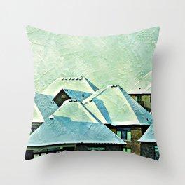 Urban Snow Caps Throw Pillow