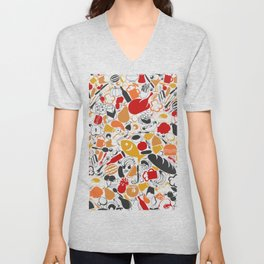 Food a background Unisex V-Neck