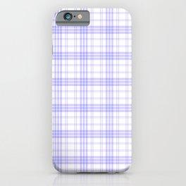 White & Lilac Plaid iPhone Case