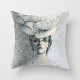 Shroom Kueen Throw Pillow