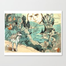 Last Unicorn Journey  Canvas Print