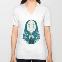 spirited away V-neck T-shirts featuring Spirited by Duke Dastardly