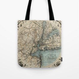 Map of Upstate New York 1891 Tote Bag