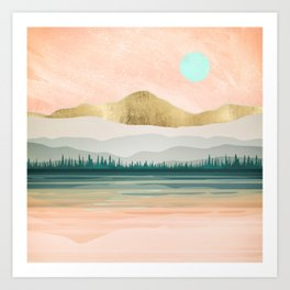 Spring Forest Lake Art Print