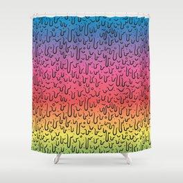 Rainbow Goo Shower Curtain