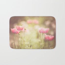 Pink Poppy Bath Mat