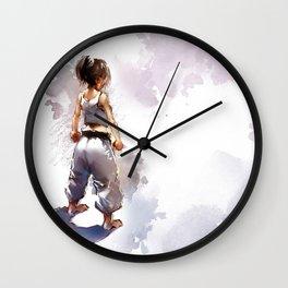 Karate Girl 2 ! Wall Clock