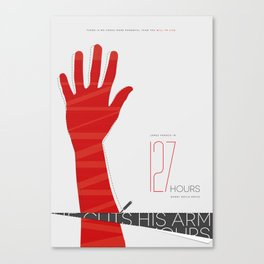 127 Hours Spoiler Poster Canvas Print