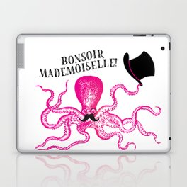 A very polite french pink octopus Laptop & iPad Skin