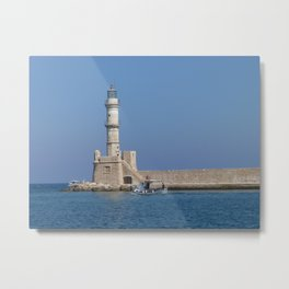 Lighthouse of Chania, Crete, Greece Metal Print
